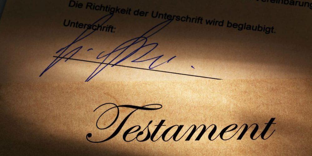 Die Immobilien im Testament